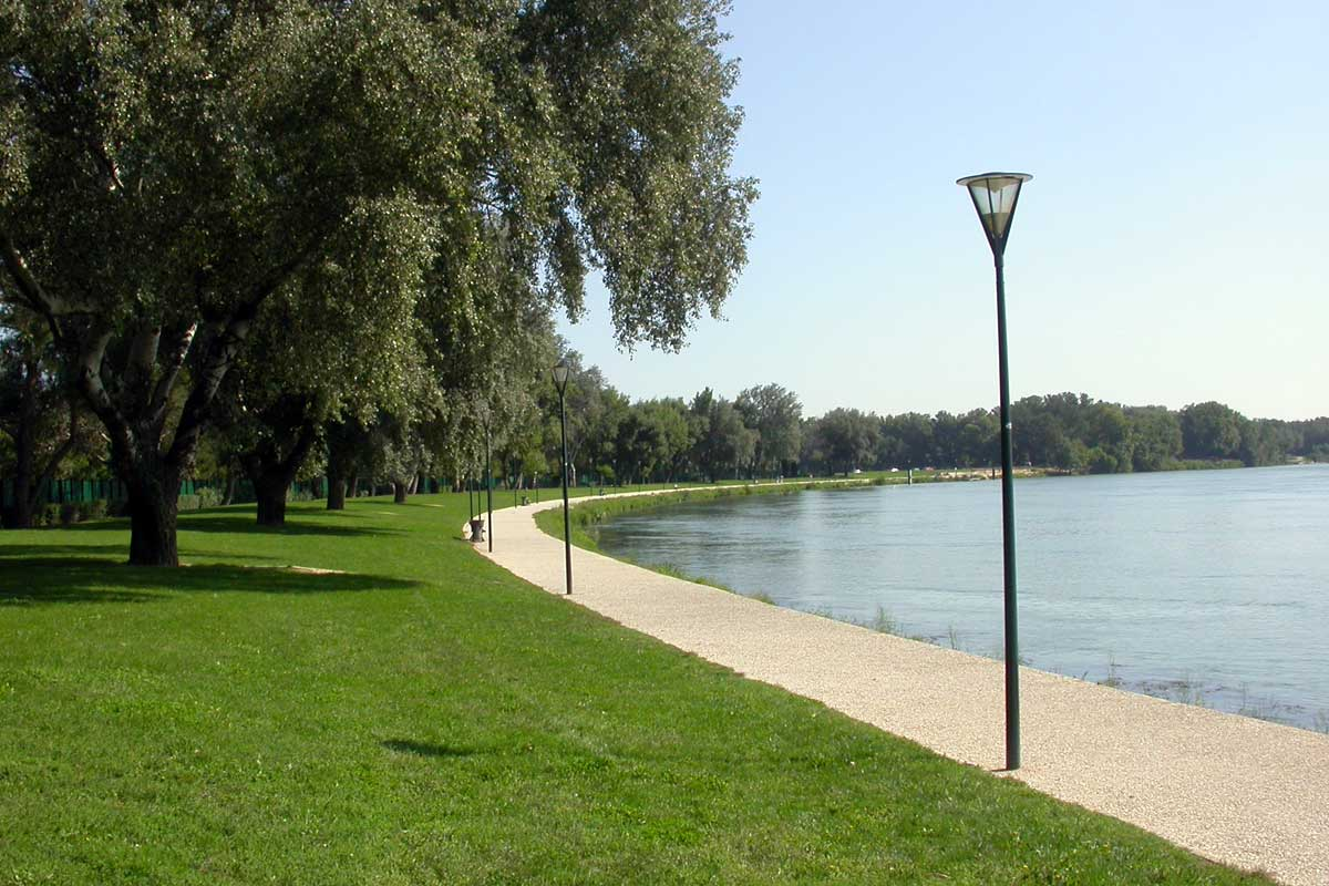 Walk of the towpath of the island of Barthelasse in Avignon © VF