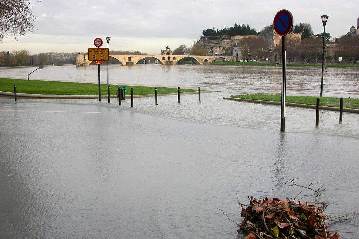 the island of Barthelasse flooded © VF
