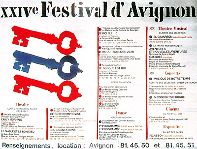 festival avignon 1970