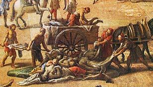 La peste à Marseille - toile de Michel Serre, détail - Musée des beaux arts de Marseille